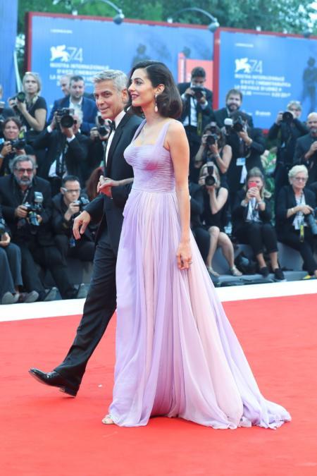 George Clooney oraz  Amal Clooney