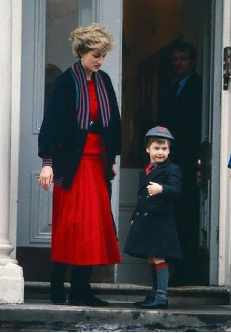Pierwszy dzień księcia Williama w szkole, 1987