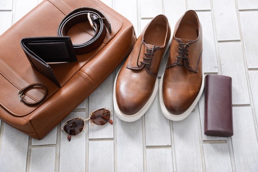 Męskie skórzane buty