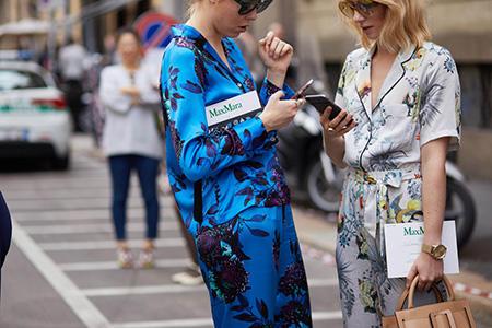 Połączenie z piżamowym trendem
