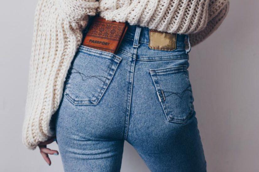 detale jeansowych spodni