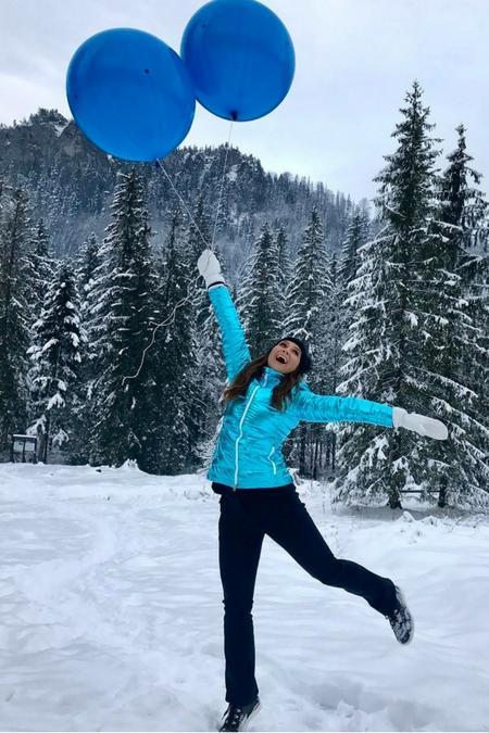 Zimowe szaleństwo w górach - zainspiruj się Kinga Rusin