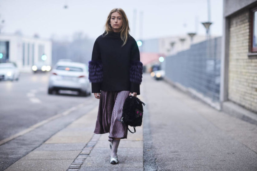 jak nosić midi zimą?