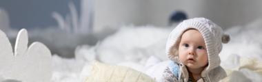 noworodek w zimie
