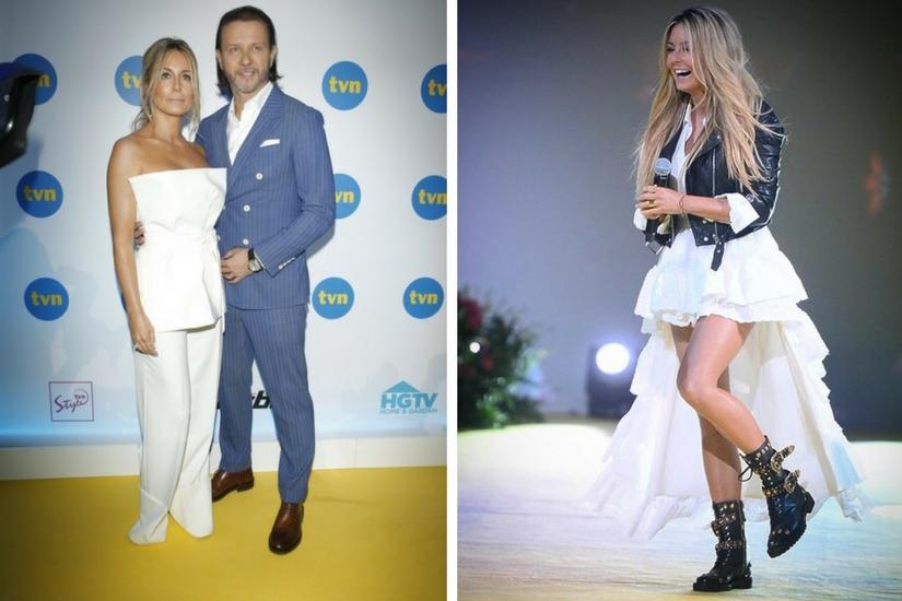 Małgorzata i Radosław Majdanowie bawią się na imprezie TVN-u