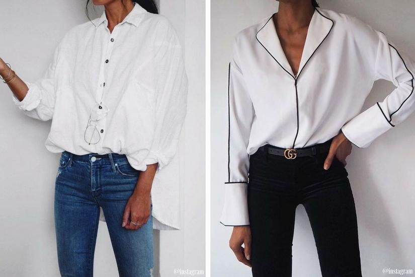 Biała koszula oversize - prosty sposób by wyglądać efektownie