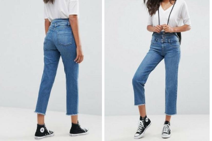 Na pierwszy rzut oka jeansy wyglądają interesująco
