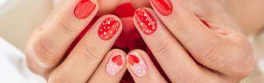 Manicure na walentynki inspiracje z Instagrama