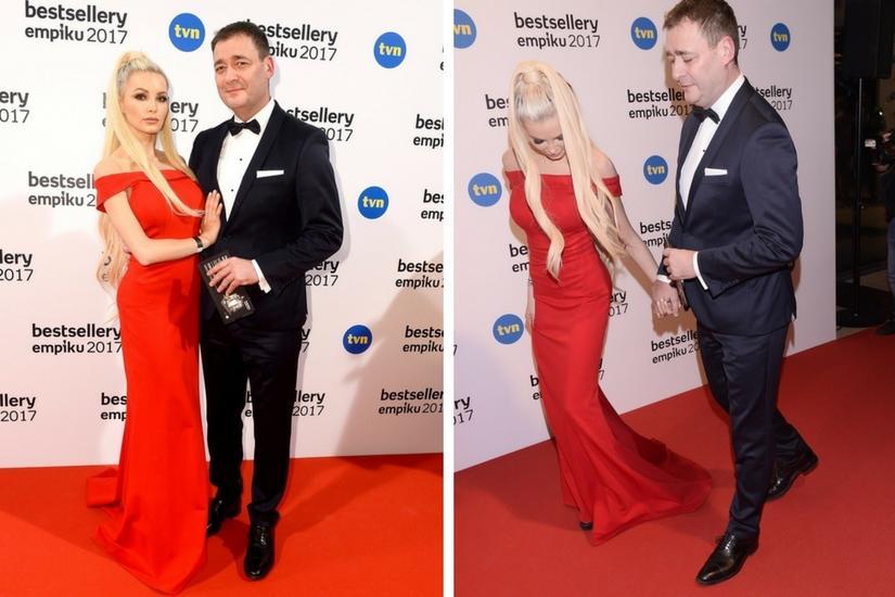 Jacek Rozenek z Roxy Gąską razem na czerwonym dywanie