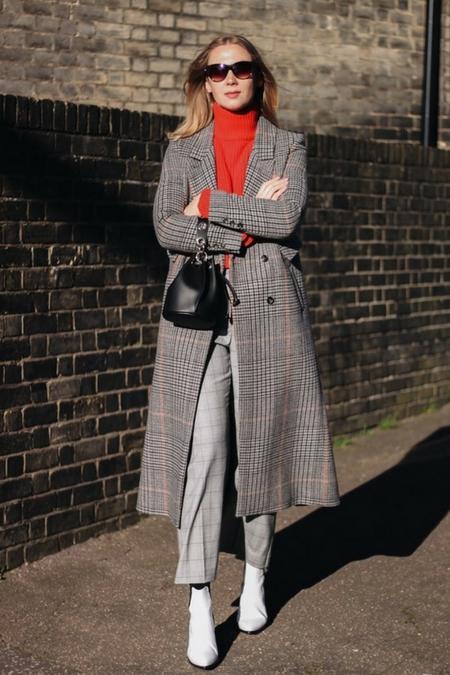Płaszcz w kratę Fashion Reef  robi wrażenie