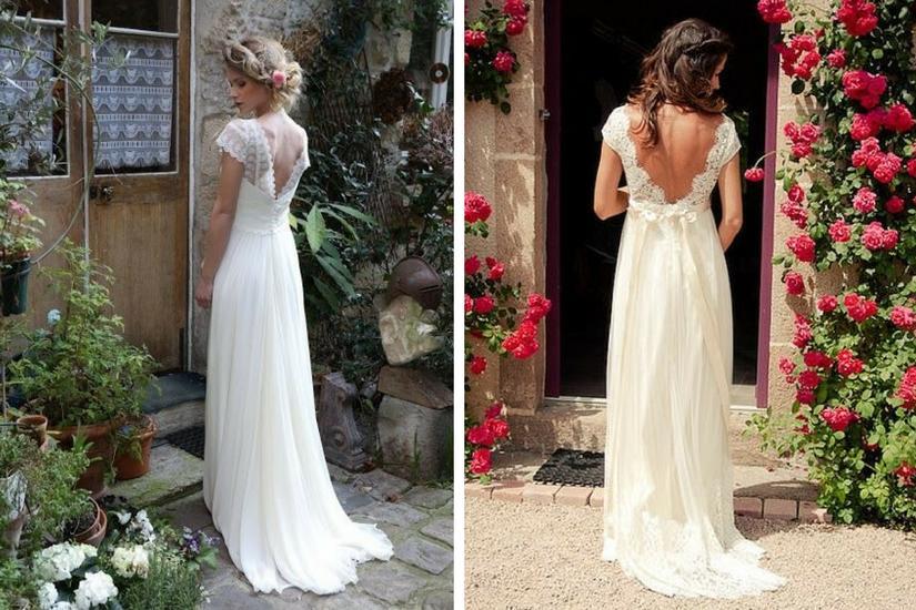 Suknia ślubna z odkrytymi plecami prezentuje się bajecznie
