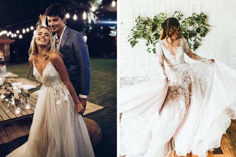 Suknie ślubne z kwiatowym printem