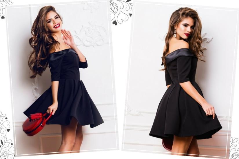 Czarna rozkloszowana sukienka będzie wyglądać atrakcyjnie i jednocześnie dziewczęco