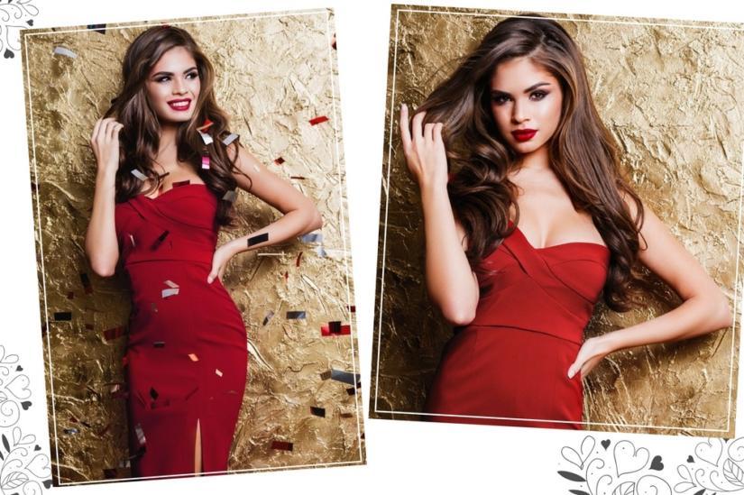 Czerwona bandażowa sukienka nie wymaga wielu dodatków