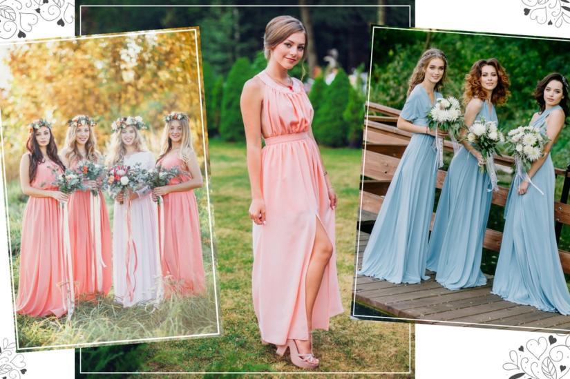 Długa sukienka to idealny wybór dla druhny