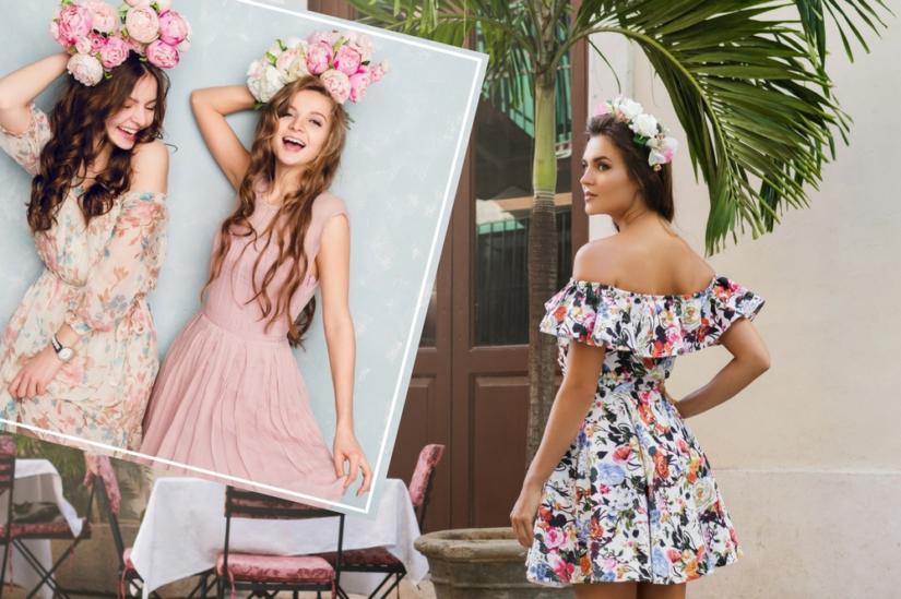 8d777c6358cfa3 Zwiewne sukienki w pastelowych kolorach są niezwykle dziewczęce