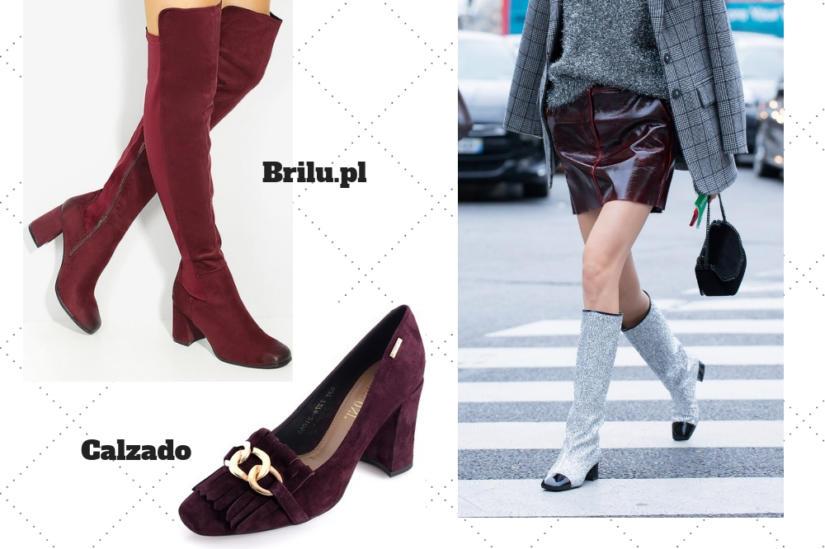 Buty z kwadratowym noskiem w stylu retro