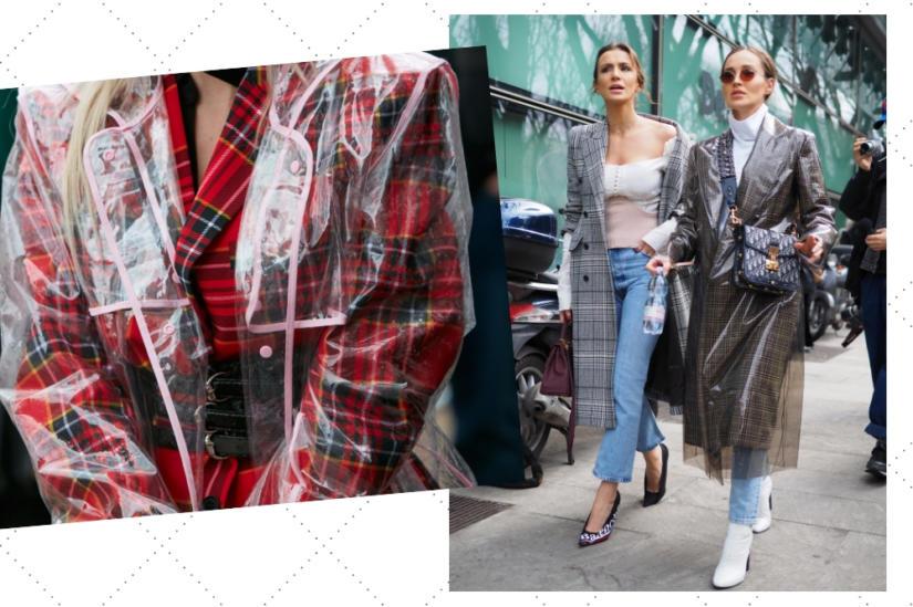 Stylizacje z Fashion Week - peleryny