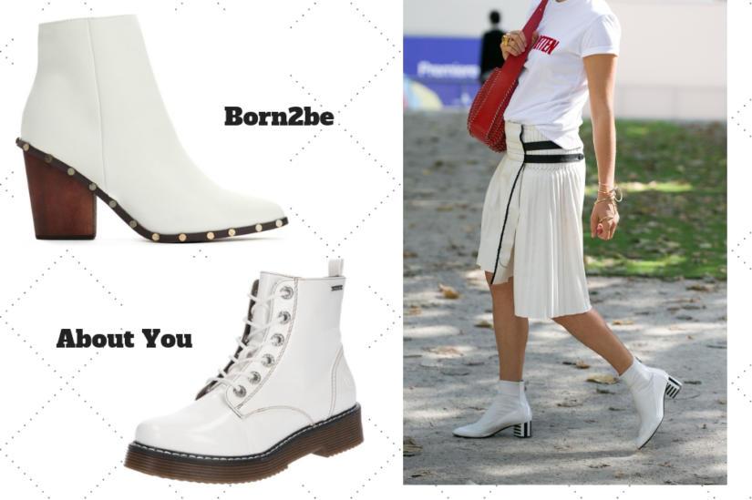 Białe buty na jesień to dość odważny wybór