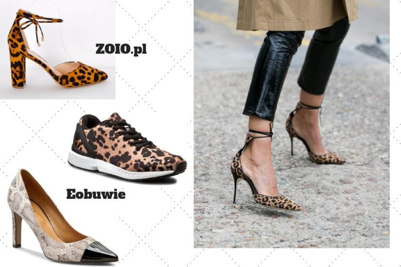 Zwierzęce wzory pojawiają się na wszystkich fasonach butów