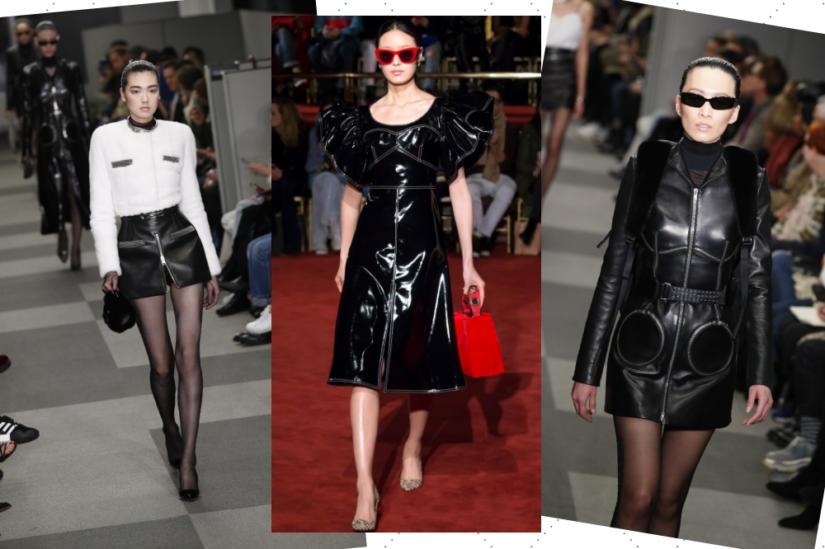 Skórzane sukienki i spódnice na Fashion Week 2018