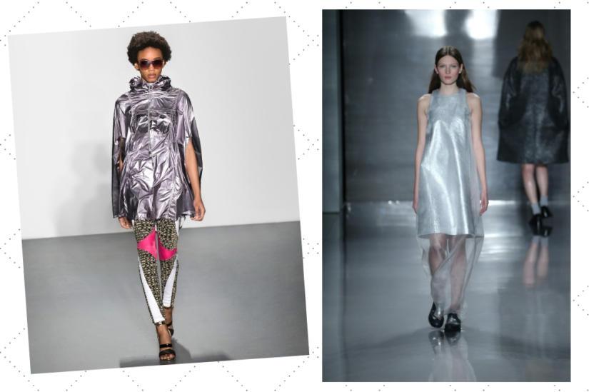 Srebro w stylizacjach na New York Fashion Week