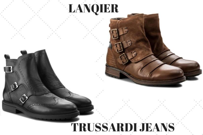 Stylowe buty męskie zimowe ozdabia się m.in.  klamrami
