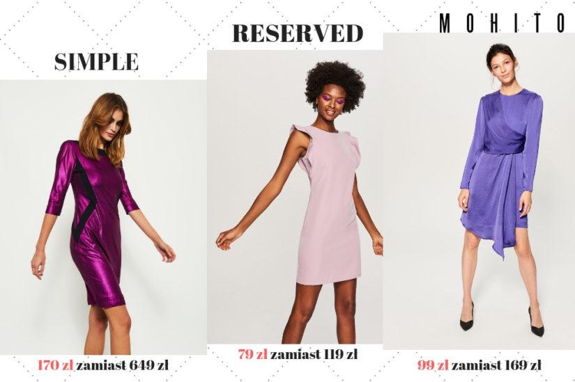 Fioletowe sukienki w okazyjnych cenach przydadzą się na różnego rodzaju imprezy