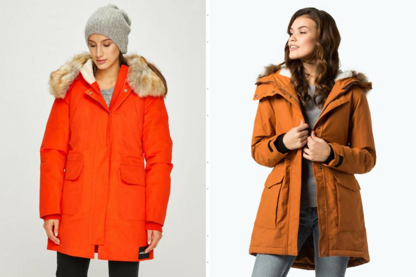 Soczyste kolory to świetny wybór na zimową wersję parki, fot. Answear.com - Calvin Klein, Van Graaf.