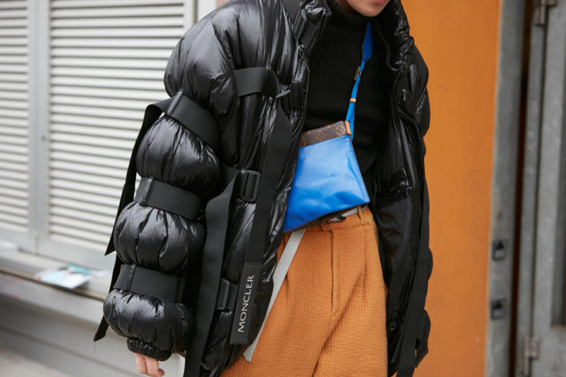 Czarna pikowana kurtka oversize - zimowy basic
