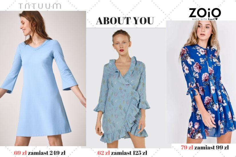 Niebieskie sukienki zachwycają przez cały rok!
