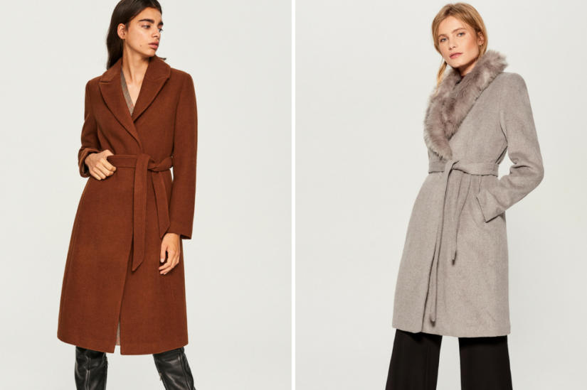 Klasyczne płaszcze: Reserved, Mohito
