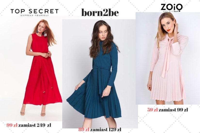 Plisowane sukienki z wyprzedaży zachwycają klasycznym fasonem i elegancją