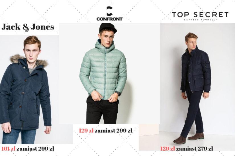 Sportowe kurtki męskie na zimę powinny być ciepłe, wygodne i stylowe, fot. 1. Answear.com, 2. Sizeer.com