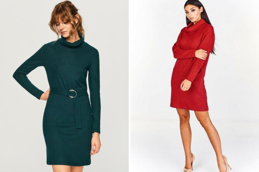 Dzianinowe sukienki: Reserved, Fokus.pl