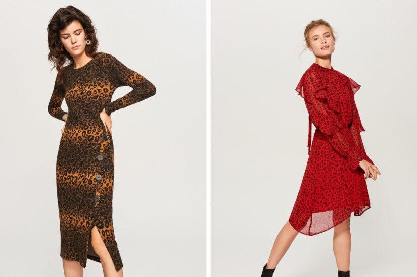 Sukienki ze zwierzęcym motywem są drapieżne i bardzo kobiece, fot. Reserved, Mohito.