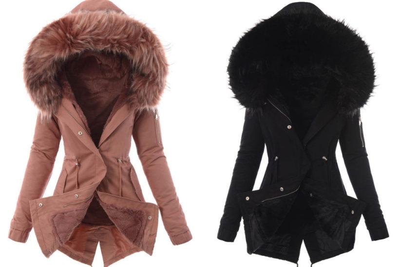 Ciepłe kurtki z futerkiem w środku to doskonały wybór na mroźną zimę, fot. brendi.pl
