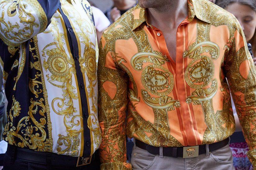 Apaszkowy wzór zagościł także na męskich ubraniach