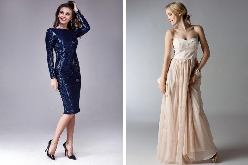 Zarówno prosta elegancka sukienka jak i balowa suknia to modny wybór