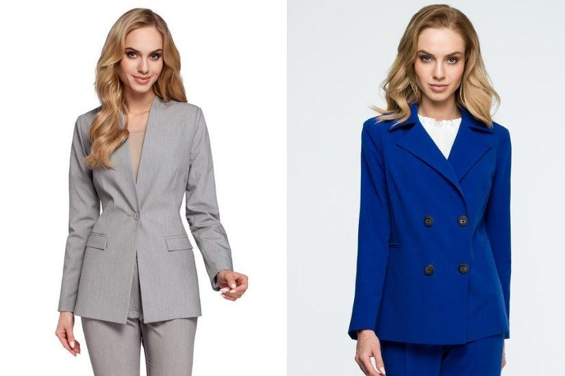 Damski garnitur to klasyczny i bezpieczny wybór na wigilię firmową, fot. Molly.