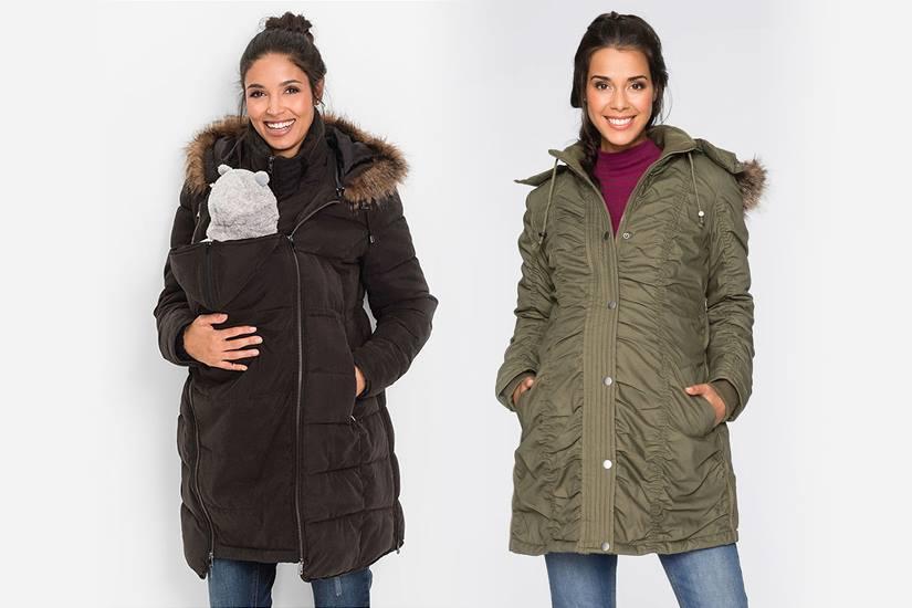 55a05b40306d kurtki skórzane z futerkiem w trendy ALLANI. Kurtka ciążowa na zimę. Ciepłe  i praktyczne modele dla przyszłych mam!