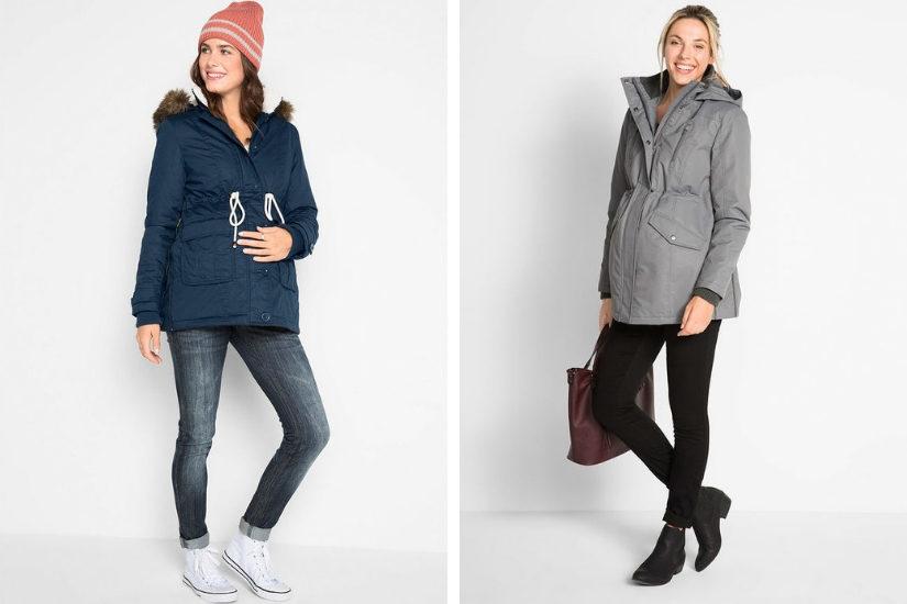 Zimowe kurtki ciążowe znajdziesz obecnie w wielu sieciówkach, a także w sklepach online!