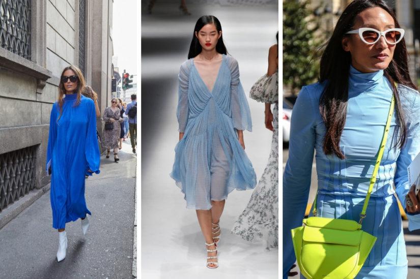 90157d104a Sukienka na wiosnę w różnych odcieniach niebieskiego to hit tego sezonu