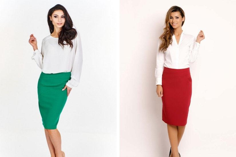 Wybierz na uroczysty czas stylową spódnicę w świątecznym kolorze, fot. Molly
