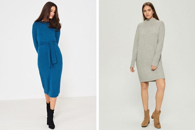 4746e7a2c7 Sukienki dzianinowe i swetrowe – najmodniejszy wybór na zimę 2019 ...