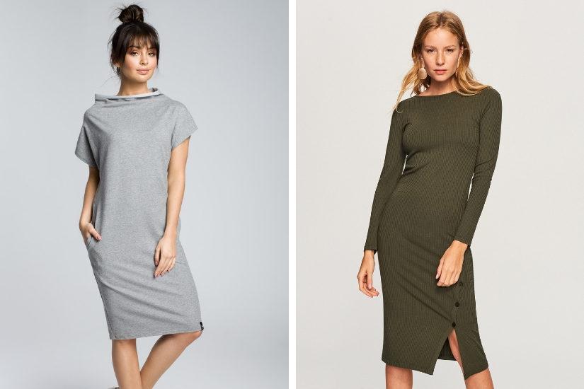 f478055018 Sukienki dzianinowe i swetrowe – najmodniejszy wybór na zimę 2019 ...
