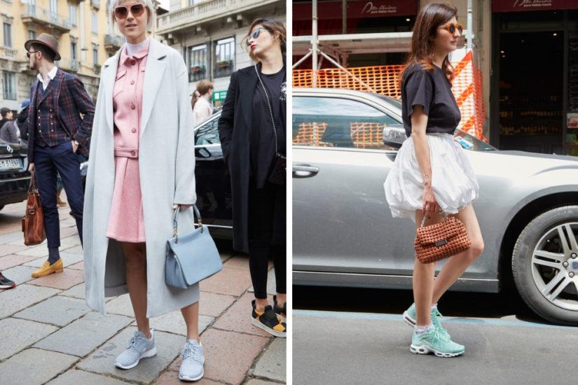 Buty Nike doskonale wpisują się w modę na łączenie sportowych sneakersów z bardziej eleganckimi strojami