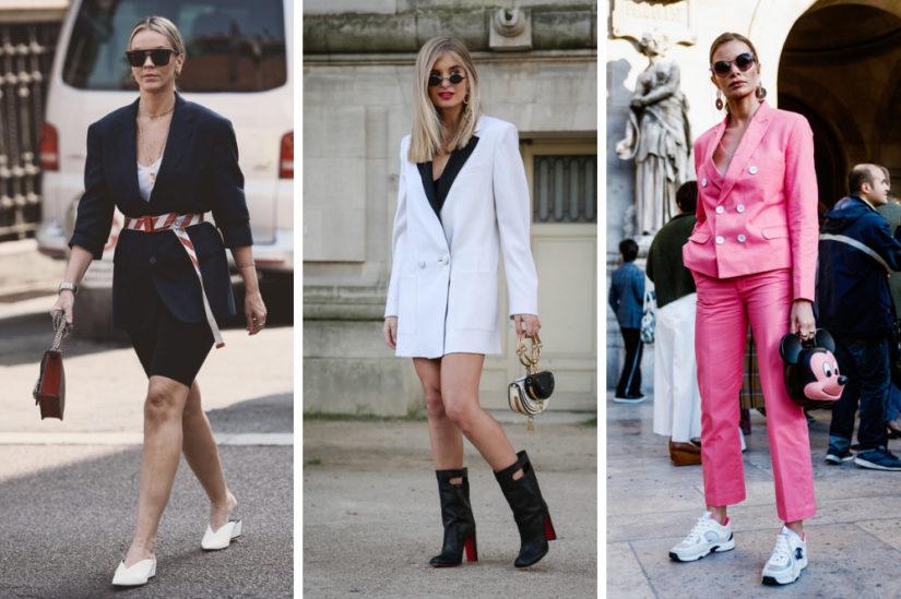 Elementy eleganckiego stylu z lat 80. coraz częściej widać też na ulicach