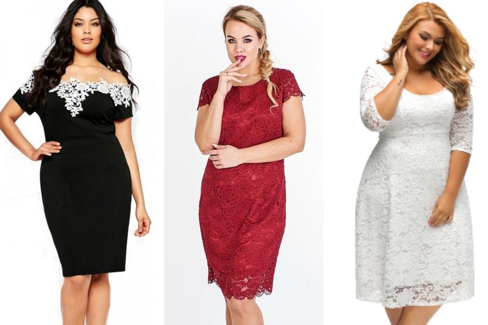 56c5c5417b3c4d Stylowe sukienki z koronki dla puszystych to pomysł niebanalną stylizację  dla pań noszących większe rozmiary