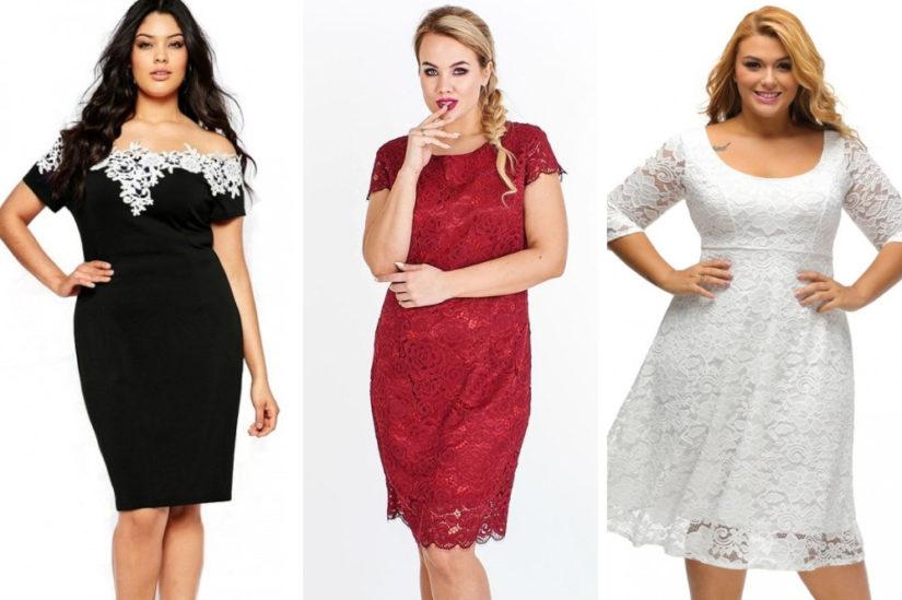 Stylowe sukienki z koronki dla puszystych to pomysł na niebanalną stylizację dla pań noszących większe rozmiary, fot. noshame.pl, fokus.pl, modito.pl.